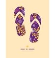 Purple and gold underwater plants flip flops vector image vector image
