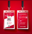 red corporate id card design template set vector image vector image