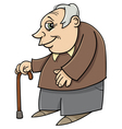 senior with cane cartoon vector image vector image