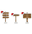 set christmas wooden sign vector image vector image