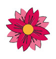 single pink flower icon image vector image vector image
