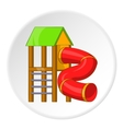 Slide pipe icon cartoon style vector image vector image