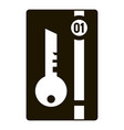 smart key house icon simple style vector image vector image