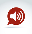 Speech bubble with loudspeaker sign broadcast icon vector image vector image