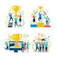 successful business people working people vector image