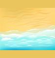 sunny beach with ocean waves vector image