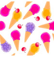 sweet seamless pattern with multiciolor fruit ice vector image vector image