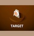target isometric icon isolated on color vector image vector image