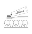 teeth and toothpaste vector image vector image