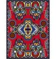 ukrainian floral carpet design for print on canvas vector image vector image