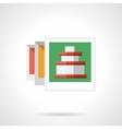 Vacations postcard flat color design icon vector image vector image