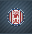 veterans day sale usa patriotic emblem vector image