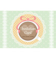warm cute elegant flat pastel invitation wedding vector image vector image