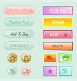 web elements shop buttons buy element cart vector image
