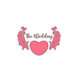 wedding greeting logo vector image vector image