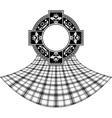 stencil of scottish celtic ring vector image