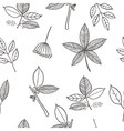seamless pattern with leaf branches and berries vector image