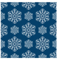 seamless snowflakes pattern vector image