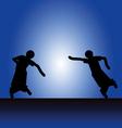 dancer silhouette vector image