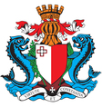 ial image of coat of arms of malta vector image
