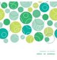 abstract green circles horizontal frame vector image vector image