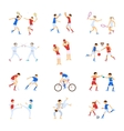 Athletes Kids set vector image