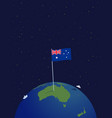 australia on globe planet earth a view vector image vector image