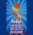 badge concept banner comics isometric style vector image