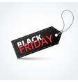Black textured badge about black friday sale vector image