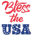 bless usa on white background vector image vector image