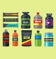 bodybuilders gym athlete sport food diet symbols vector image vector image