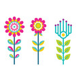 bright field flowers composed of bright details vector image