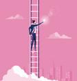 business target concept climbing ladder reaching vector image