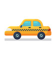 car icon stock taxi cab flat vector image vector image