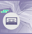 cassette icon on purple abstract modern vector image vector image