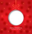 christmas ball blank vector image vector image