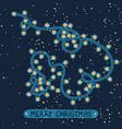 christmas modern grating card vector image vector image