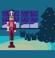 christmas nutcracker design vector image vector image