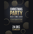 christmas party flyer or poster winter vector image vector image