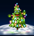 christmas tree xmas new year design vector image vector image