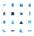 clothes icons colored set with belt slippers vector image vector image
