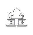 cloud technologies line icon concept cloud vector image vector image