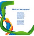 color shapes and lines design vector image vector image