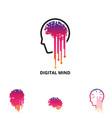 digital mind symbol vector image