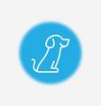 dog icon sign symbol vector image vector image