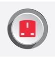 Electric plug socket base icon British standard vector image