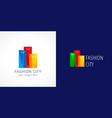 fashion city logo colored vector image