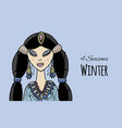 female beauty winter style for your design vector image vector image