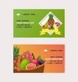 fruits business card fruity apple banana vector image vector image