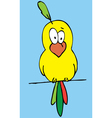 funny bird cartoon vector image vector image